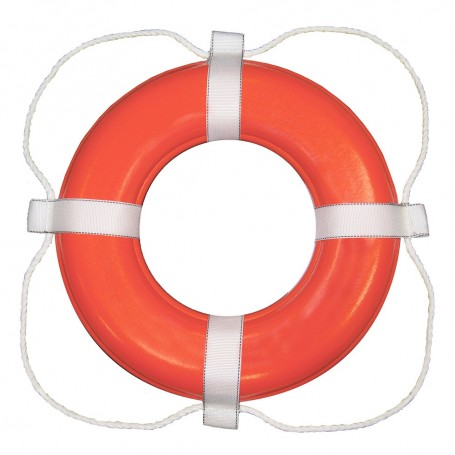 Taylor Made Foam Ring Buoy - 30- - Orange w-White Rope