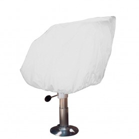Taylor Made Helm-Bucket-Fixed Back Boat Seat Cover - Vinyl White