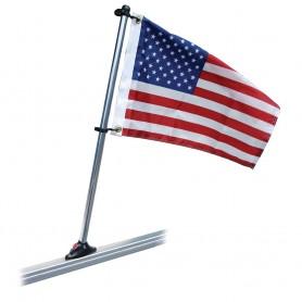 Taylor Made Pontoon 30- Flag Pole Mount - 16- x 24- US Flag