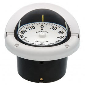 Ritchie HF-742W Helmsman Compass - Flush Mount - White