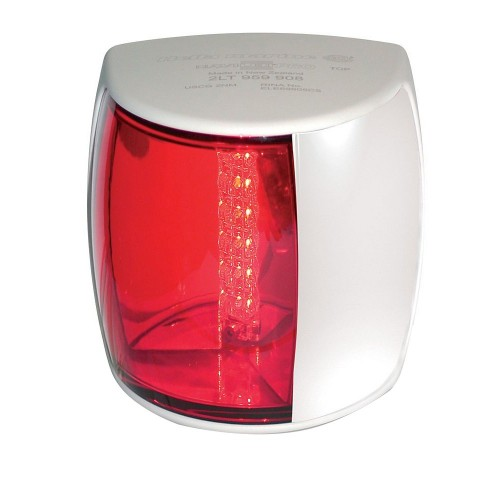 Hella Marine NaviLED PRO Port Navigation Lamp - 3nm - Red Lens-White Housing