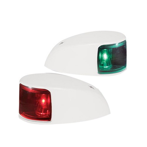 Hella Marine NaviLED Deck Mount Port - Starboard Pair - 2nm - Colored Lens-White Housing