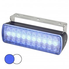 Hella Marine Sea Hawk XL Dual Color LED Floodlights - Blue-White LED - Black Housing
