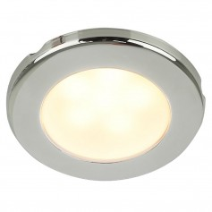 Hella Marine EuroLED 75 3- Round Screw Mount Down Light - Warm White LED - Stainless Steel Rim - 12V