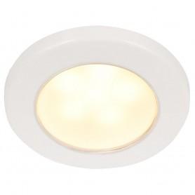Hella Marine EuroLED 75 3- Round Screw Mount Down Light - Warm White LED - White Plastic Rim - 12V