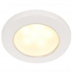 Hella Marine EuroLED 75 3- Round Screw Mount Down Light - Warm White LED - White Plastic Rim - 12V