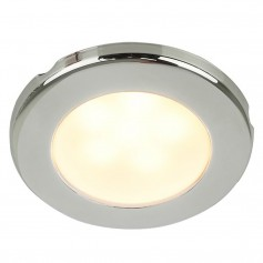 Hella Marine EuroLED 75 3- Round Screw Mount Down Light - Warm White LED - Stainless Steel Rim - 24V
