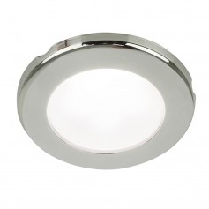 Hella Marine EuroLED 75 3- Round Screw Mount Down Light - White LED - Stainless Steel Rim - 12V