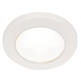 Hella Marine EuroLED 75 3- Round Screw Mount Down Light - White LED - White Plastic Rim - 24V
