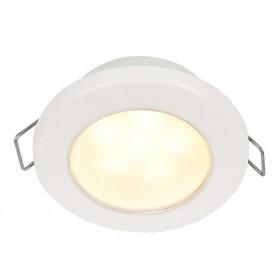 Hella Marine EuroLED 75 3- Round Spring Mount Down Light - Warm White LED - White Plastic Rim - 12V