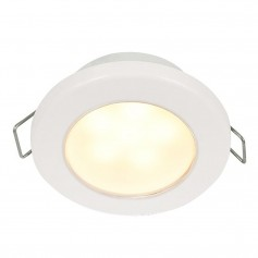 Hella Marine EuroLED 75 3- Round Spring Mount Down Light - Warm White LED - White Plastic Rim - 12V