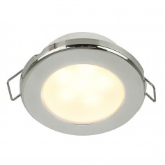 Hella Marine EuroLED 75 3- Round Spring Mount Down Light - Warm White LED - Stainless Steel Rim - 24V
