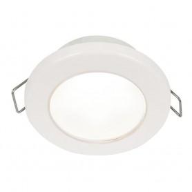 Hella Marine EuroLED 75 3- Round Spring Mount Down Light - White LED - White Plastic Rim - 12V
