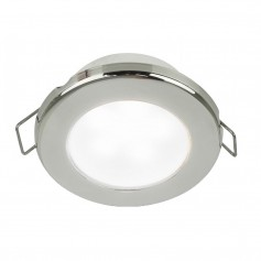 Hella Marine EuroLED 75 3- Round Spring Mount Down Light - White LED - Stainless Steel Rim - 12V