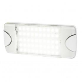 Hella Marine DuraLED 50 Low Profile Interior-Exterior Lamp - White LED Spreader Beam