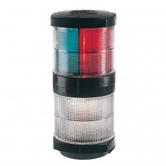 Hella Marine Tri-Color Navigation Light-Anchor Navigation Lamp- Incandescent - 2nm - Black Housing - 12V