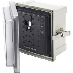 Blue Sea 3116 SMS Surface Mount System Panel Enclosure - 120V AC - 30A ELCI Main - 3 Blank Circuit Positions