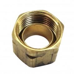 Uflex Brass Compression Nut w-Sleeve -61CA-6