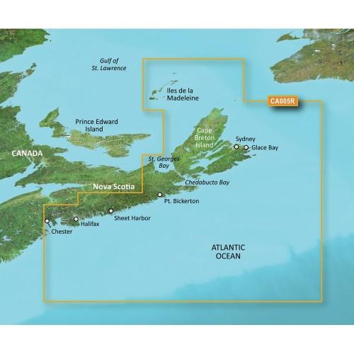 Garmin BlueChart g2 Vision HD - VCA005R - Halifax - Cape Breton - microSD-SD