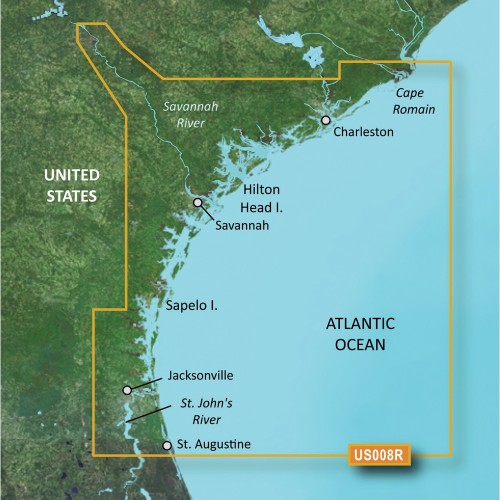 Garmin BlueChart g3 Vision HD - VUS008R - Charleston to Jacksonville - microSD-SD