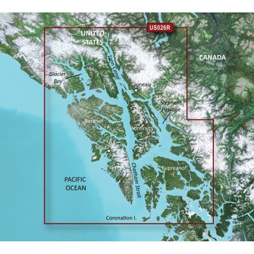Garmin BlueChart g3 Vision HD - VUS026R - Wrangell-Juneau-Sitka - microSD-SD