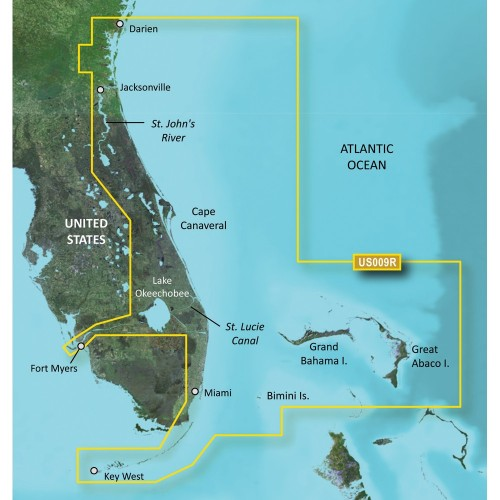 Garmin BlueChart g3 Vision HD - VUS009R - Jacksonville - Key West - microSD-SD