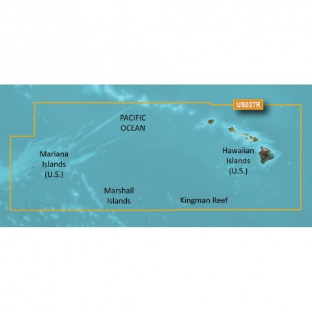Garmin BlueChart g3 Vision HD - VUS027R - Hawaiian Islands - Mariana Islands - microSD-SD