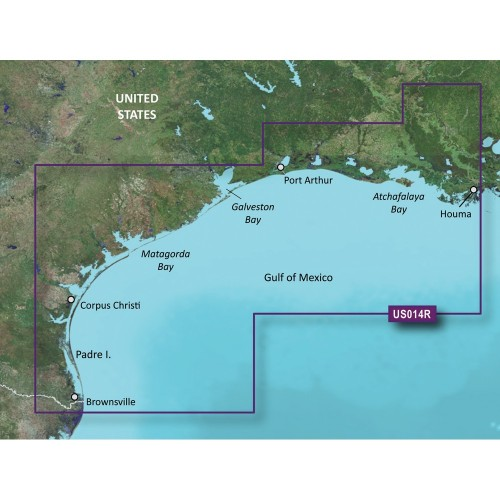 Garmin BlueChart g3 Vision HD - VUS014R - Morgan City to Brownsville - microSD-SD