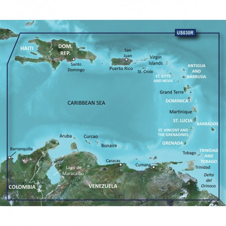Garmin BlueChart g2 Vision HD - VUS030R - Southeast Caribbean - microSD-SD