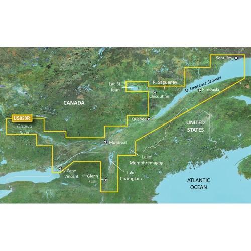 Garmin BlueChart g3 Vision HD - VUS020R - St- Lawrence Seaway - microSD-SD