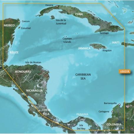 Garmin BlueChart g3 Vision HD - VUS031R - Southwest Caribbean - microSD-SD