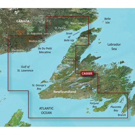 Garmin BlueChart g3 Vision HD - VCA008R - Newfoundland West - microSD-SD