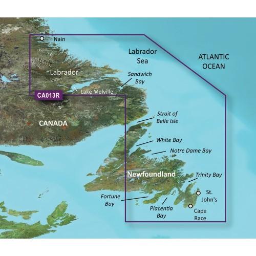 Garmin BlueChart g2 Vision HD - VCA013R - Labrador Coast - microSD-SD
