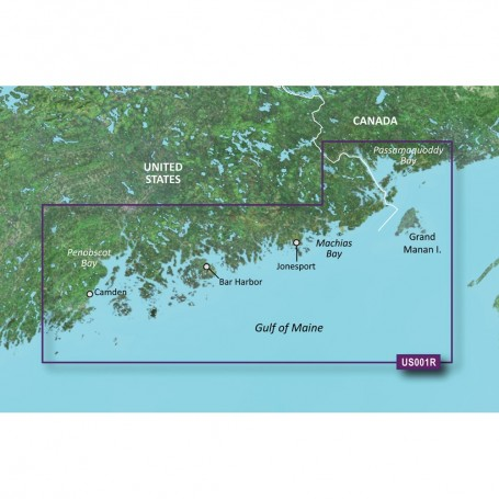 Garmin BlueChart g3 Vision HD - VUS001R - North Maine - microSD-SD