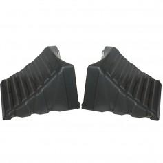 Camco Nesting Wheel Chocks - Dark Gray - Tires up to 26- - Pair