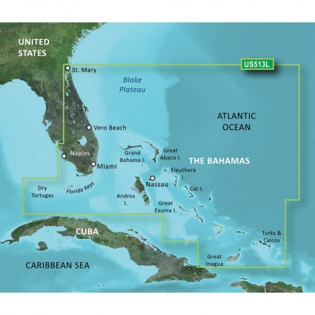 Garmin BlueChart g3 Vision HD - VUS513L - Jacksonville - Bahamas - microSD-SD