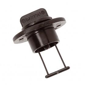 Barton Marine Drain Plug and Socket - 15mm --60-- Bore - Black