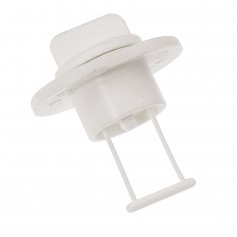 Barton Marine Drain Plug and Socket - 15mm --60-- Bore - White