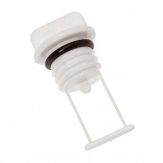 Barton Marine Drain Plug - 15mm --60-- Bore - White