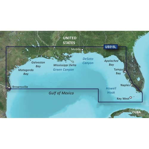 Garmin BlueChart g3 Vision HD - VUS515L - Brownsville - Key Largo - microSD-SD