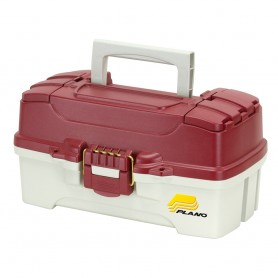 Plano 1-Tray Tackle Box w-Dual Top Access - Red Metallic-Off White