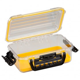 Plano Waterproof Polycarbonate Storage Box - 3600 Size - Yellow-Clear