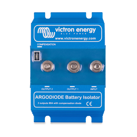 Victron 2 Batteries 80 Amp Argo Diode Battery Isolator 80-2SC
