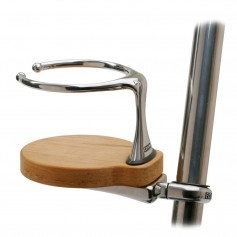 Edson Clamp-On Drink Holder - Single - Teak