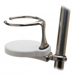Edson Clamp-On Drink Holder - Single - White Poly