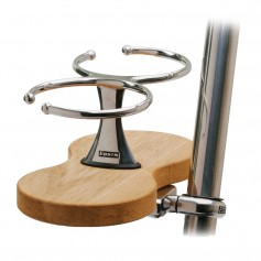 Edson Clamp-On Drink Holder - Double - Teak