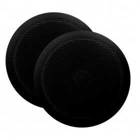 Majestic Ultra Slim 6- Marine Speaker - 30W - Pair - Black