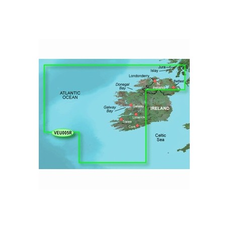 Garmin BlueChart g3 Vision HD - VEU005R - Ireland- West Coast - microSDSD