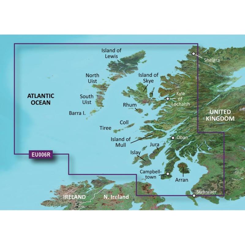 Garmin BlueChart g3 Vision HD - VEU006R - Scotland- West Coast - microSD-SD