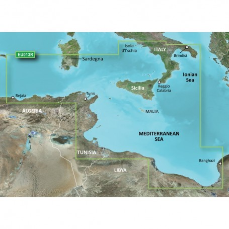 Garmin BlueChart g3 Vision HD - VEU013R - Italy Southwest Tunisia - microSD-SD